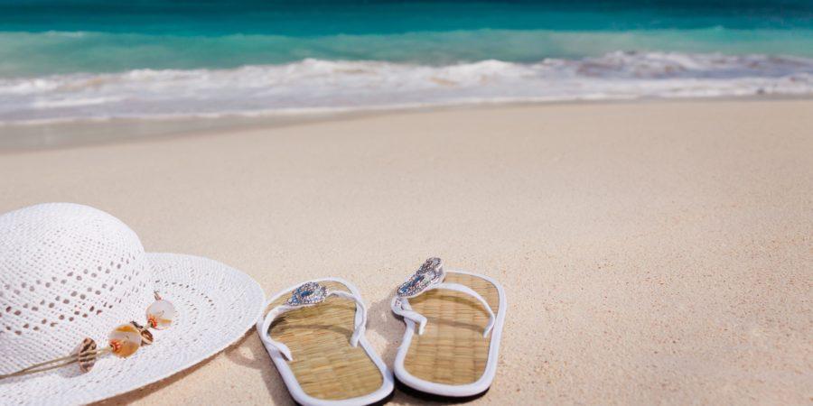 Beach hat sandals